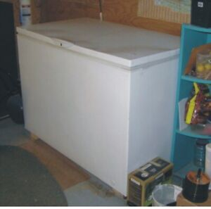 Freezer must go! 48inch X 27.5 inches top. approx. 10 cu. ft.