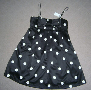 Forever 21 Black & cream polka dot cocktail dress, tags attached