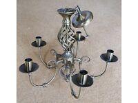2 large chandelier light fittings
