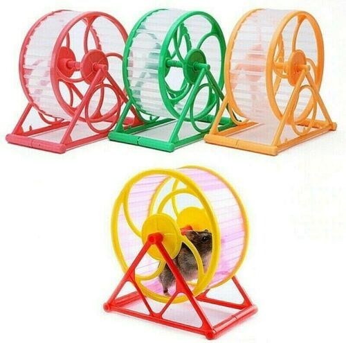 Pet Hamster Sports Running Exercise Wheel Cage Toy Scroll Plastic Random color