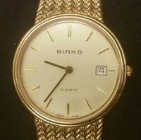 Vintage Men's Swiss Made Birk's Quartz Dress Watch