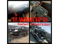 WANTED ANY TOYOTA HILUX!!! SINGLE/DOUBLE/SUPER CAB!!! 4WD/2WD!!!