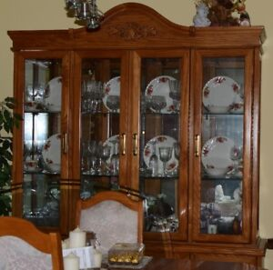 Dining Room Table with China Cabinet and Buffet/Hutch