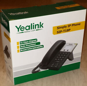 Yealink SIP-T18P simple VoIP telephone phone, perfect condition!