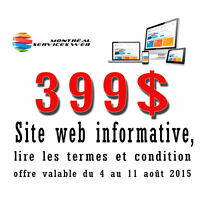 Création de sites web - Promotion 399$