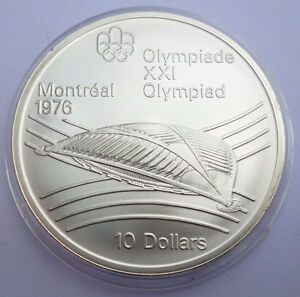 Canada 1976 Olympic $10 Silver Coin London Ontario image 1