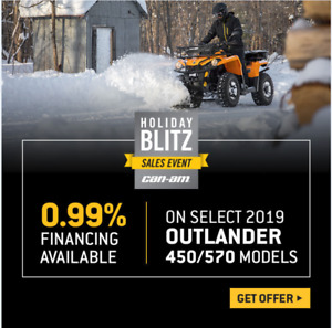 CAN-AM SALES HOLIDAY SALE EVENT ATV & SIDE-BY-SIDE