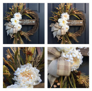 New Gather grapevine wreath
