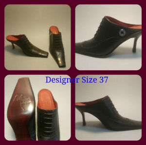Designer leather shoes size 37 .. 6.5