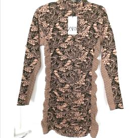 Zara womens Jaquard Ruffle dress. New with tags. Size small.