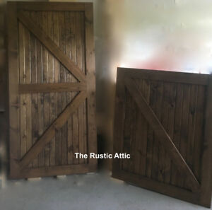 Rustic Sliding Barn Door Handcrafted  Soft Close Bypass Hardware