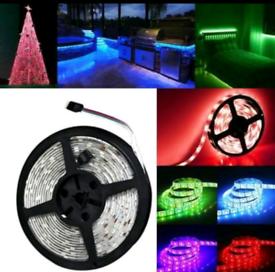 5m Mains plug powered 5050 RGB LED Waterproof Lights Color Changing