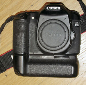 Canon 40D Camera with Grip