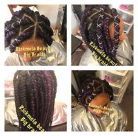 Weaves,  Box Braid, Cornrow, Crochet, Extension, Ghana Braids