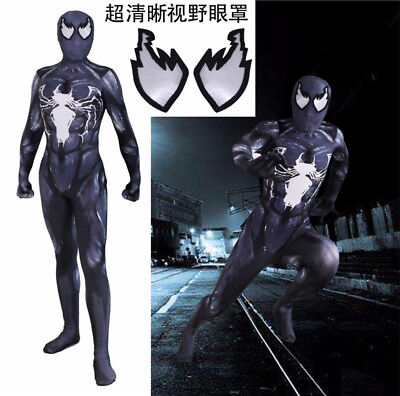 Venom Symbiote Spiderman Costume Zentai Cosplay Suit For - Spiderman Custom Kostüm