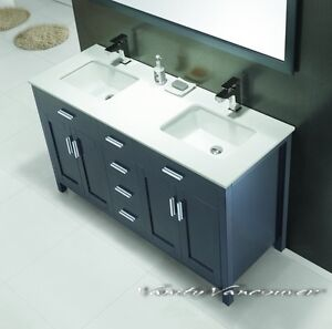 ⎷⎛Contemporary Bathroom Vanity & Cabinet Urban Flare UF60S/D