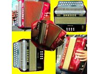 melodeon wanted Cash waiting