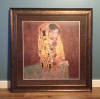 """The Kiss"" Gustav Klimt print from Vienna 36x36"