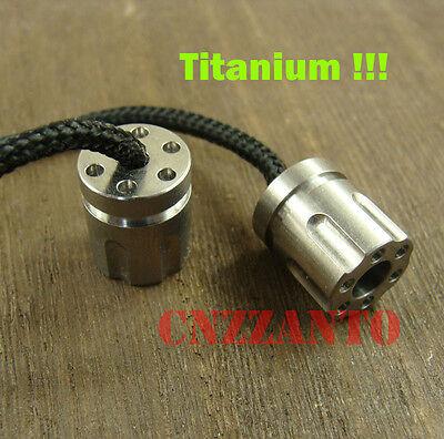"Revolver magazine shaped Titanium Begleri EDC Paracord Beads toy ""worry beads"""