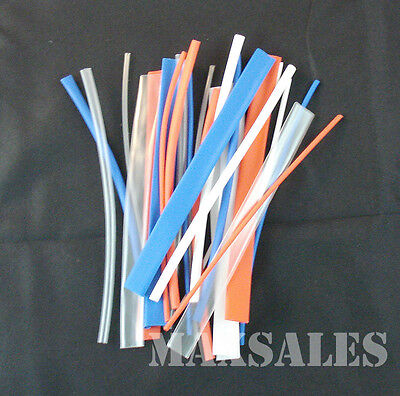 96pc Color Heat Shrink Tubes Shrinkable Wire Wrap Set New