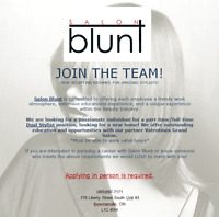Looking for a Talented, Experienced Dual Hair Stylist!