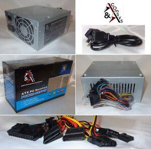 PC ATX Netzteil 450W 450 Watt 20/24 P4 2xSATA 2xIDE 1x FDD Leiser Lüfter + Kabel