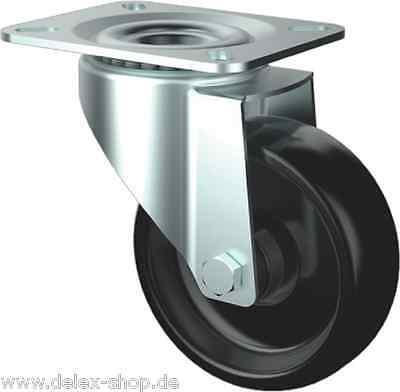 Räder Rollen Lenkrolle Hitzebeständig für Stikkenwagen 80mm INOX Edelstahl 280C°