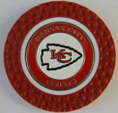 NFL Kansas City Chiefs Magnetic Poker Chip removable Golf Ball Marker