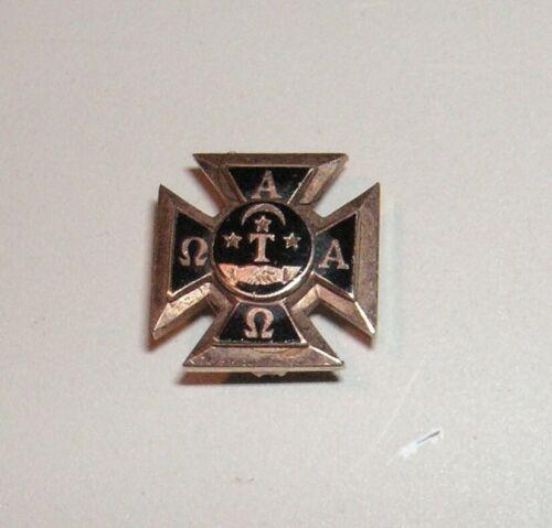 Alpha Tau Omega Greek Fraternity Badge - 10K Gold - #25988