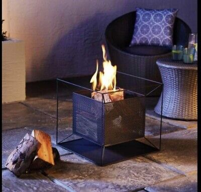 Gardenline Square Contemporary Fire Basket / Fire Pit Brand New ✅ Free Delivery