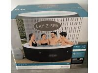 💦Lazy Spa Miami 4 Person Hot Tub 2021 Model with Freeze Shield BRAND NEW lay z spa