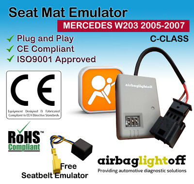 PASSENGER AIRBAG SEAT OCCUPANCY SENSOR EMULATOR W203 W209 MERCEDES C CLK 2005 07