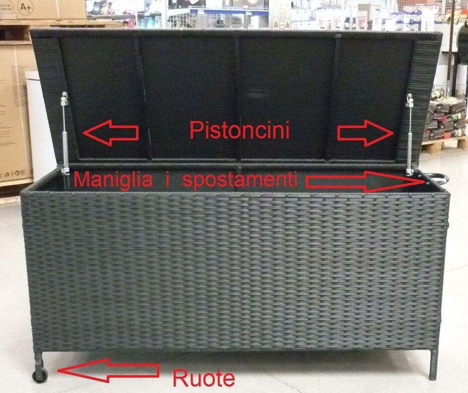 Bauli In Rattan Sintetico.Baule Contenitore Portalegna Da Interno Esterno Per La Legna In