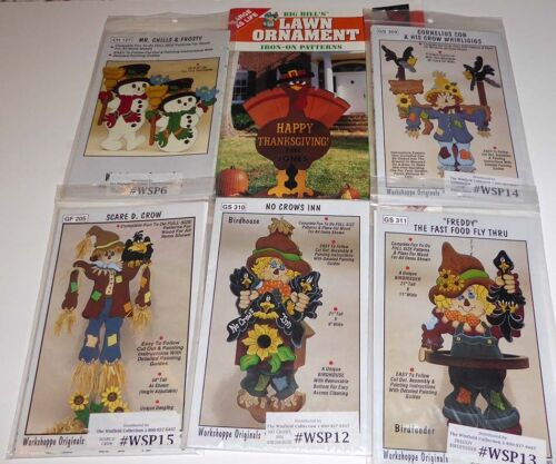 WINFIELD WOODWORKING PATTERN LOT~FALL~WINTER~HOLIDAYS~SCARECROWS