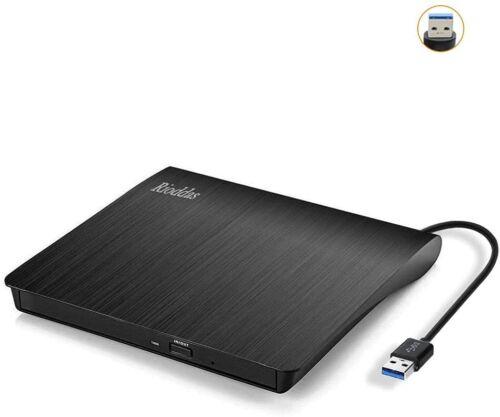External CD Drive USB 3.0 Portable CD/DVD +/-RW Drive Slim DVD/CD ROM