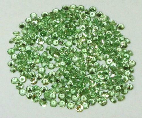 1.8mm to 1.9mm AA KENYA TSAVORITE GREEN GARNET DIAMOND ROUND CUT
