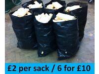 FIREWOOD / KINDLING ...£2 Sack / 6 for £10... For open fire, log burner, chiminea, fire pit, BBQ