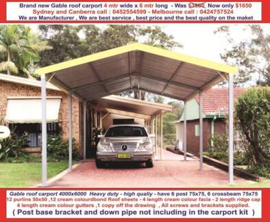 Gable roof carport kits in sydney region nsw other home