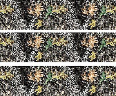 Woodland Camo ~ Edible Cake Image Topper ~ 1/4 Sheet Designer Strips  - D5445](Camo Cake Toppers)