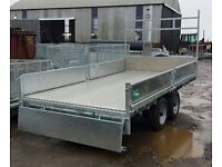 NEW 12x6 GALVANISED DROPSIDE BUILDERS TRAILER LED LIGHTS LADDER RACK SPARE WHEEL CHECKER PLATE FLOOR