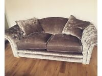Country living sofa and foot stool