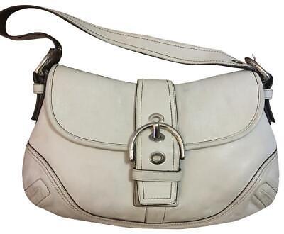 COACH Parchment White SOHO Buckle Shoulder Bag F10192