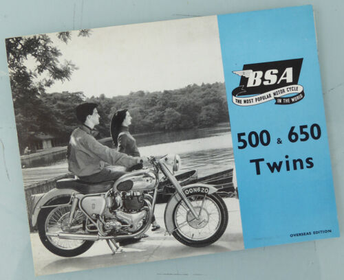 1955 BSA MOTORCYCLE BROCHURE BOOK CATALOG A7 A10 ROAD ROCKET GOLDEN FLASH STAR +