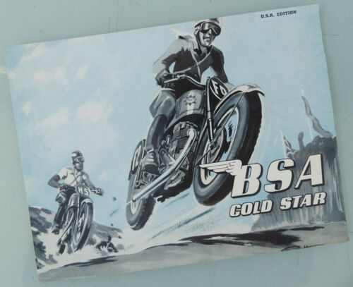 1953 BSA MOTORCYCLE ORGINAL BROCHURE BOOK CATALOG B32 B34 GOLDSTAR ZB BB DBD