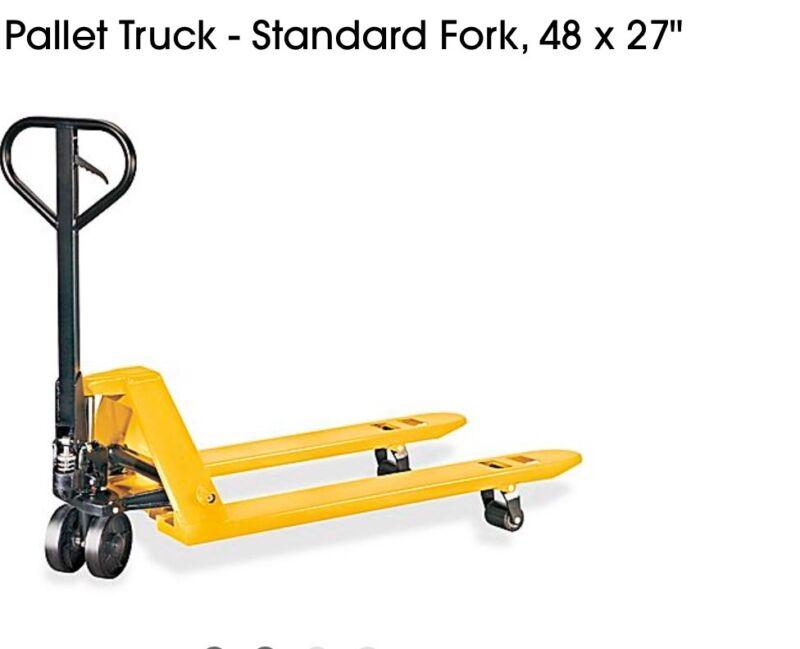 "2 Warehouse Pallet Jack Standard Fork 48 X 27"" Fast Shipping"