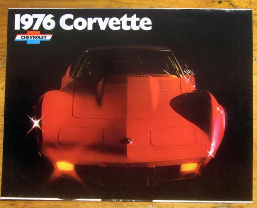 1976 Chevrolet CORVETTE  Foldout Brochure