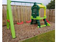little tikes clubhouse swing set climbing frame and slide
