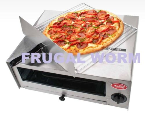 Stainless Steel Pizza Oven Commercial Kitchen Countertop Toaster Oven - 120V