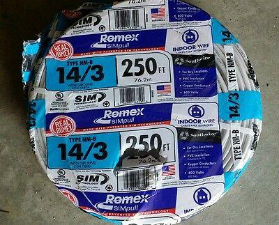 250' 14/3 romex