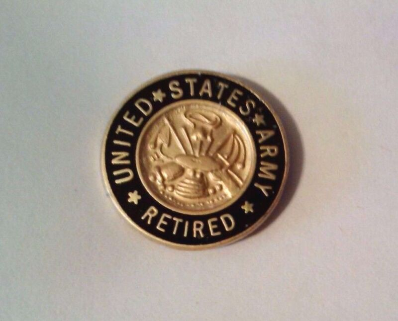 """United States Army Retired Lapel Pin       5/8"""""""